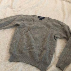 gray Ralph Lauren 100% cashmere sweater